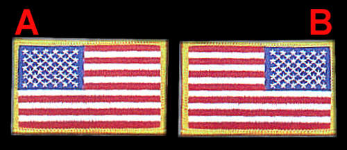 Army uniform patches placement car interior design for Proper placement of american flag